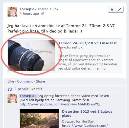 Facebook Thumbnail fra Prestashop