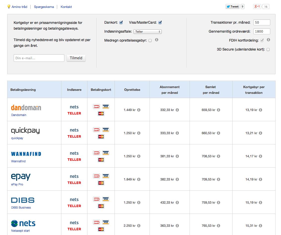 Betalingsystem til webshops